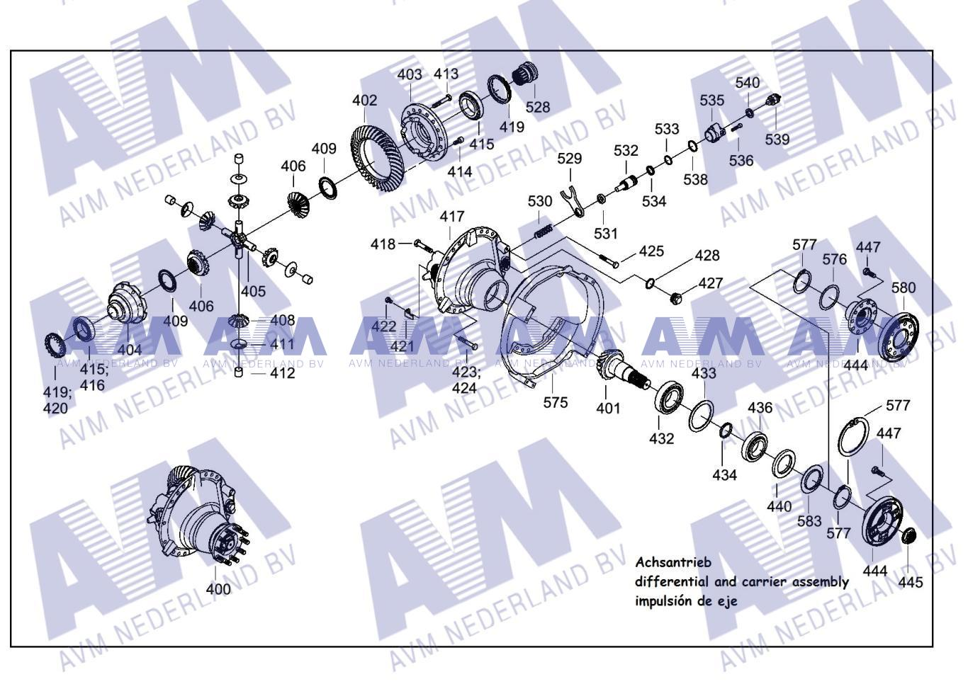 Tekening Asaandrijving 1traps DIF54 PPM