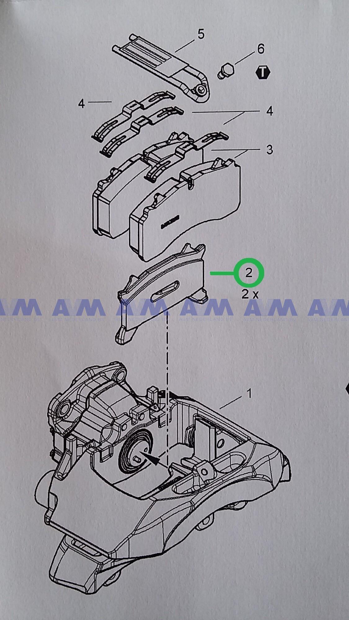 Reparatieset drukplaat (2 stuks) gebruikt 1146640 Schmitz