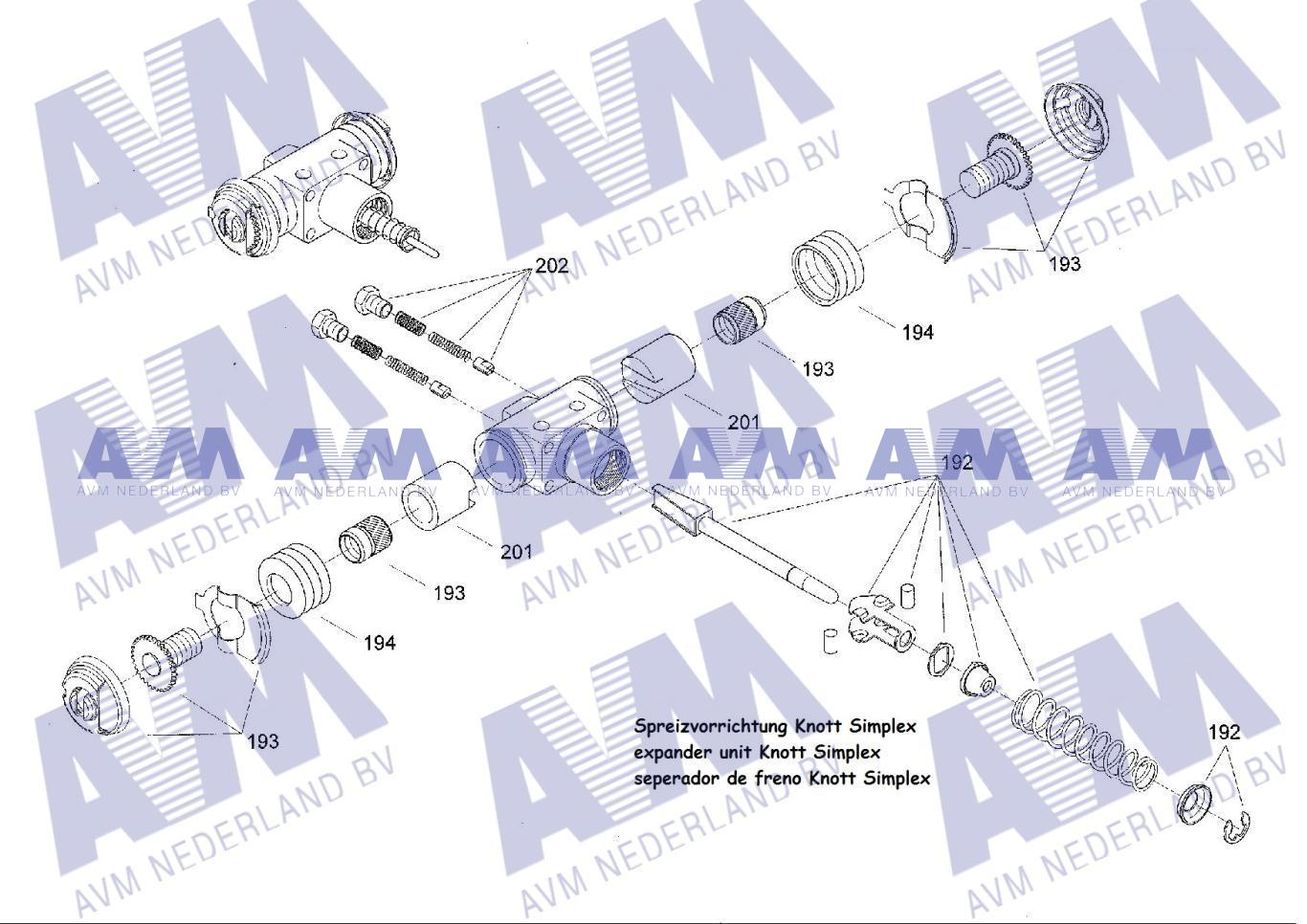 Remspreider Simplex Knott Ruil 9049108525 Krupp