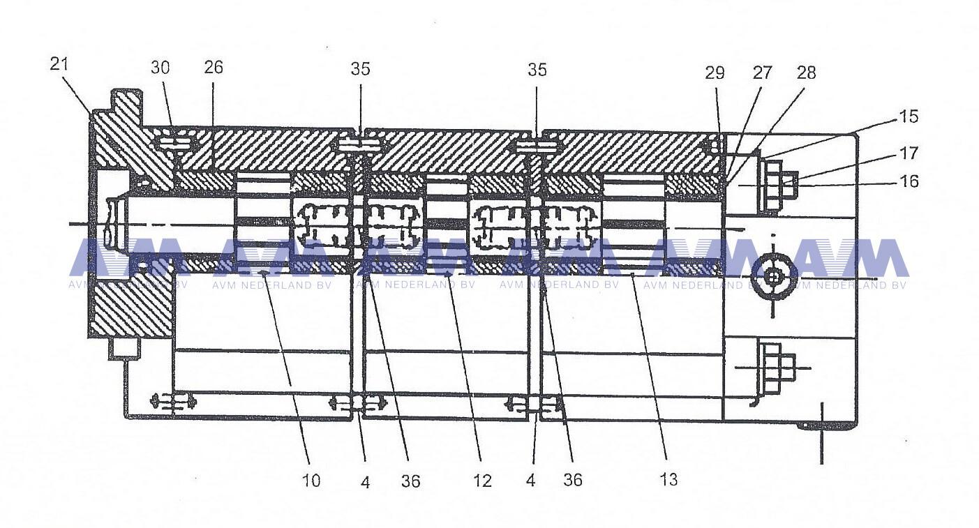 Hydropomp t.b.v afstempelen 3 sectie pomp 3339131032