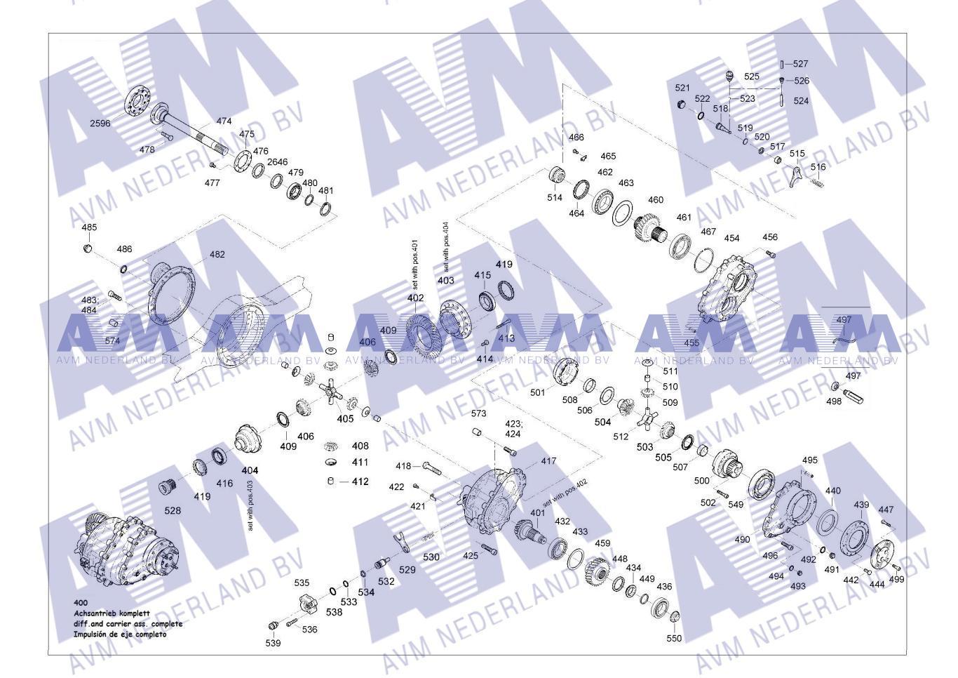 Tekening Asaandrijving 2traps DIF154