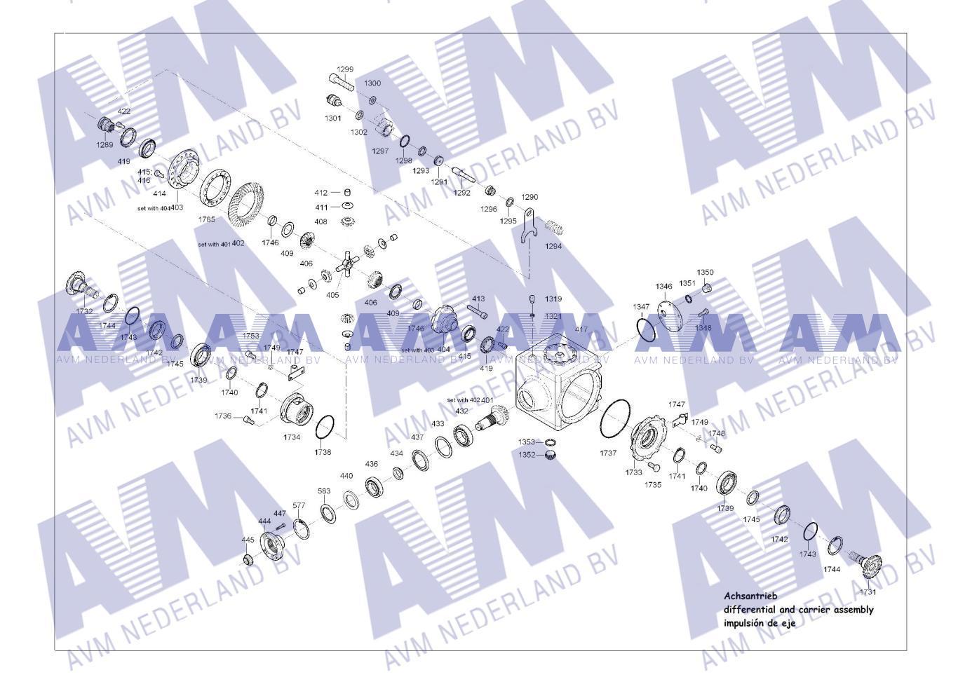 Tekening Asaandrijving GMK3050-1 3050-1 Grove